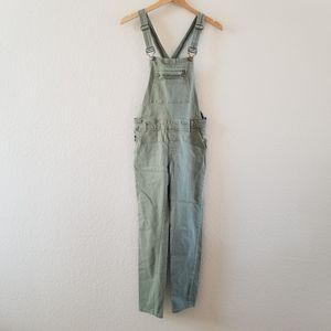 Forever 21 Olive Green Denim Overalls Size 28